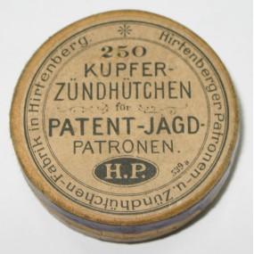 Pappschachtel, Hirtenberger Patronen Zündhütchen & Metallwaren Fabrik