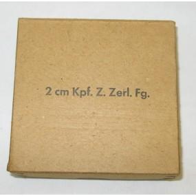 Wehrmacht Verpackung für 25 Stück 2 cm Kpf. Z. Zerl. Fg.