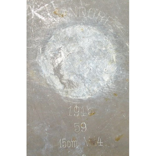 1. Weltkrieg Grabenkunst/Grabenarbeit 1915 BERNDORF 15 cm M. 14