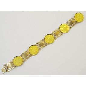 Armband 5 einfache Dukaten Franz Joseph 1915