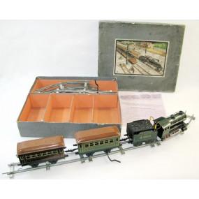 Bing - 11/540/0 - Dampflok mit Tender und 2 Stk. Personenwagen