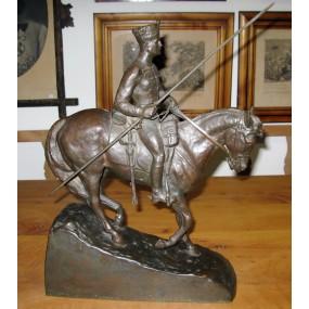 Prof. Wilhelm Otto, Bronzefigur eines Reiters der Zietenhusaren