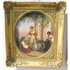 Honein Alphonse Celestin Hermann, Biedermeier Gemälde 1847