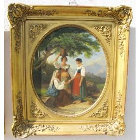 Honein Alphonse Celestin Hermann, Biedermeier Gemälde 1846