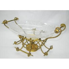 Tafelaufsatz mit Glasschale um 1860