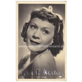 Autogrammkarte, Gusti Huber