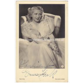 Autogrammkarte, Erna Sack