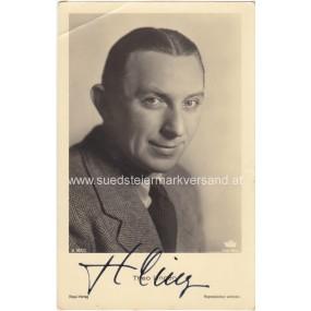 Autogrammkarte, Theo Lingen