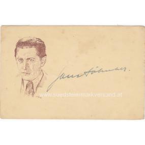 Autogrammkarte, Hans Söhnker