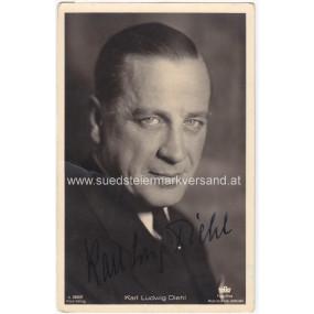 Autogrammkarte, Karl Ludwig Diehl