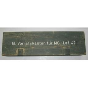 Wehrmacht Verpackungskiste, kl. Vorratskasten für MG. - Laf. 42