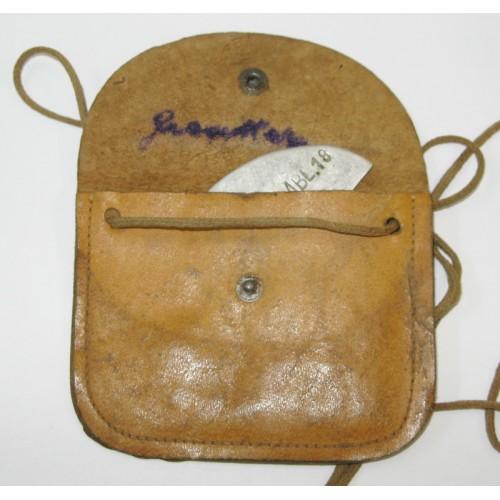 Erkennungsmarke in Tasche, 6./GEB. NACHR. ERS. ABL. 18