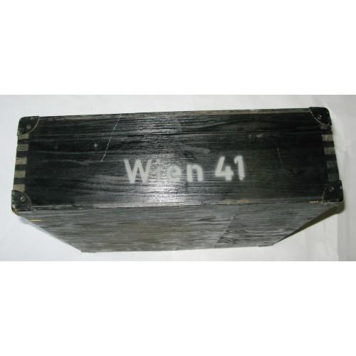 Wehrmacht Transportkiste zum Minensuchgerät Wien 41