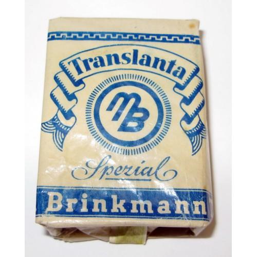 WWII Translanta Spezial Brinkmann Tabak Feinschnitt für kurze Pfeife