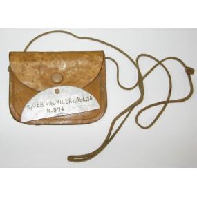 WWII Erkennungsmarke in Tasche, 6./GEB. NACHR. ERS. ABL. 18