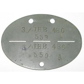 WWII Erkennungsmarke 3./J.E.B. 486