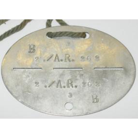 WWII Erkennungsmarke 2./A.R.262