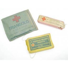 WW2 Italien - Sanitätsmaterial, Verbandpäckchen