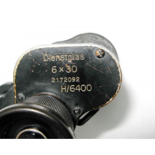 Wehrmacht Dienstglas 6 x 30 Carl Zeiss Jena H/6400