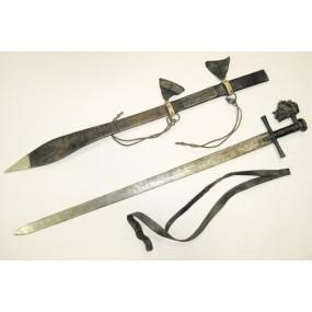Kaskara-Schwert mit Scheide, Sudan, Äthiopien, 19. Jh.
