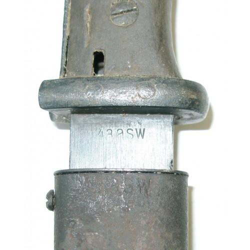 Wehrmacht Heer - Seitengewehr 84/98, 43 asw