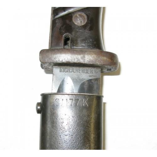 Seitengewehr 84/98 RICH. A. HERDER 1938/S/177K