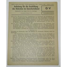 GV Gasschutztafeln, Anleitung für die Ausbildung des Rekruten im Gasschutzdienst