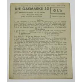 GI/Ia Gasschutztafeln, Die Gasmaske 30