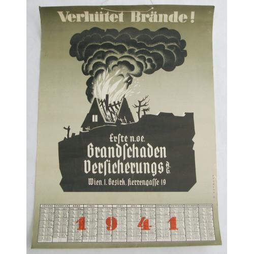 Wandkalender aus dem Jahre 1941