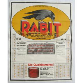 Wandkalender aus dem Jahre 1939