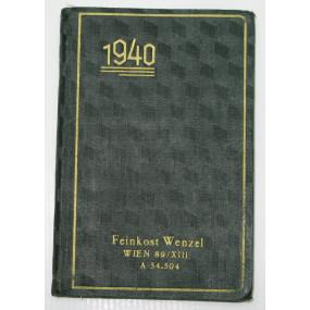 Praktikus Taschenkalender aus dem Jahre 1940