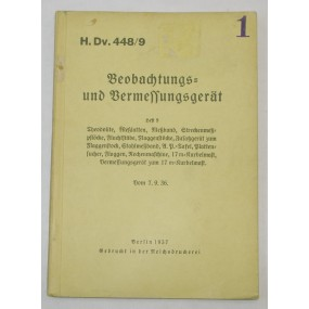 H. Dv. 448/9 Beobachtungs und Vermessungsgerät