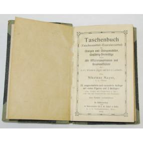 Taschenbuch/Taschenzettel-Exerzierzettel 1908