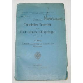 Technischer Unterricht, k. u. k. Infanterie und Jägertruppe Wien 1910