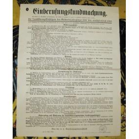 Einberufungskundmachung 1916