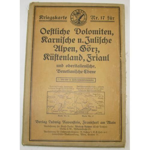 K. u. K. Kriegskarte Nr. 17 für Östliche Dolomiten, Karnische und Julische Alpen, Görz, Küstenland, Friaul