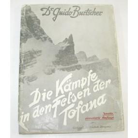 Dr. Guido Burtscher, Die Kämpfe in den Felsen der Tofana