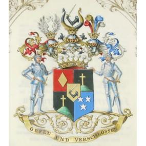 Adelsdiplom des Hugo Weckbecker, Erhebung in den Freiherrnstand 1867, Kaiser Franz Joseph I.