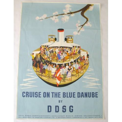 Österreich, 1950er Jahre Plakat DONAUREISEN MIT DER DDSG