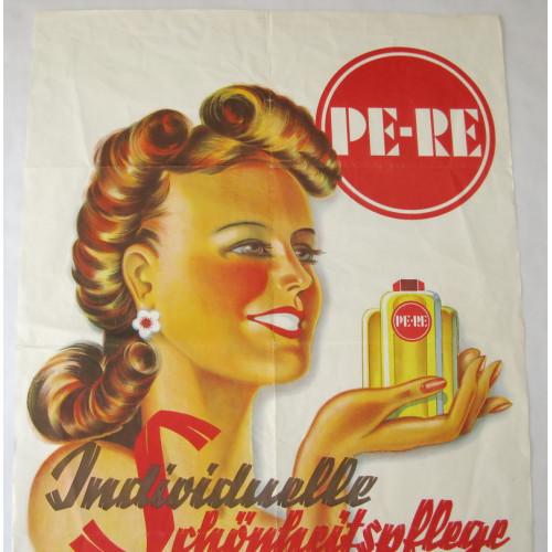 Österreich, 1950er Jahre Plakat PE-RE Individuelle Schönheitspflege