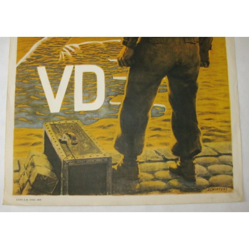 US Army 1950er Jahre Plakat VD - Almost!