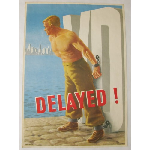 US Army 1950er Jahre Plakat VD - DELAYED!