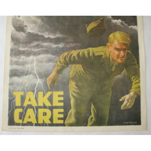 US Army 1950er Jahre Plakat VD - TAKE CARE
