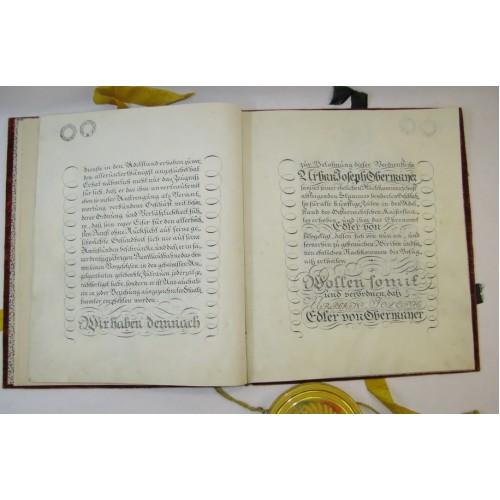 Adelsdiplom für Urban Joseph Edlen von Obermayer, Kaiser Franz I. 1819