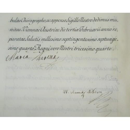Pergamenturkunde Maria Theresia 1762