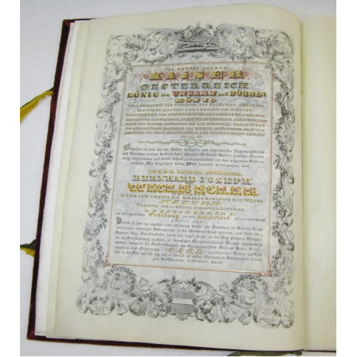 Adelsdiplom des Bernhard Joseph Weckbecker, Erhebung in den Ritterstand 1851, Kaiser Franz Joseph I.