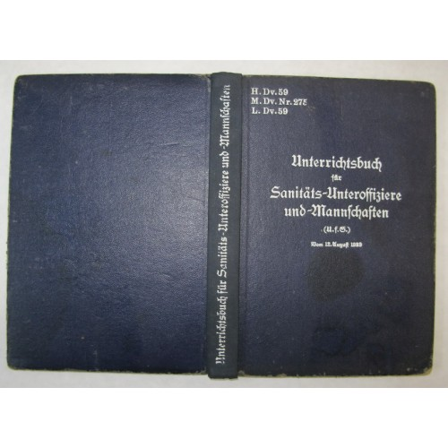 Unterrichtsbuch für Sanitäts - Unteroffiziere und Mannschaften 1939