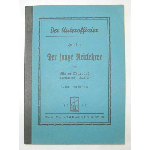 Major Marcard, Der junge Reitlehrer 1941