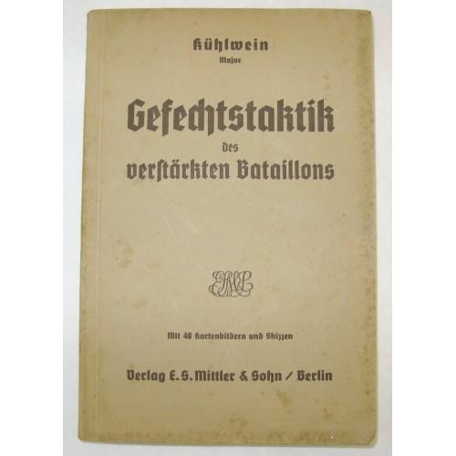 Major Kühlwein, Gefechtstaktik des verstärkten Bataillons 1936