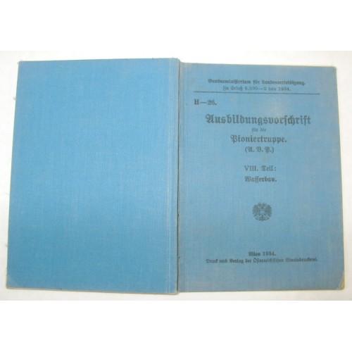 H. - 26., Ausbildungsvorschrift für die Pioniertruppe 1934